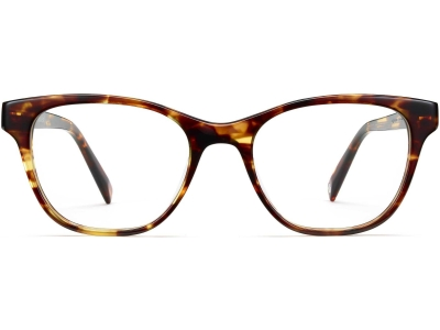 Front View Image of Amelia Eyeglasses Collection, by Warby Parker Brand, in Root Beer Color