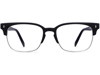 Front View Image of Ames Eyeglasses Collection, by Warby Parker Brand, in Black Matte Color