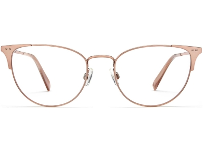 Front View Image of Ava Eyeglasses Collection, by Warby Parker Brand, in Rose Gold Color