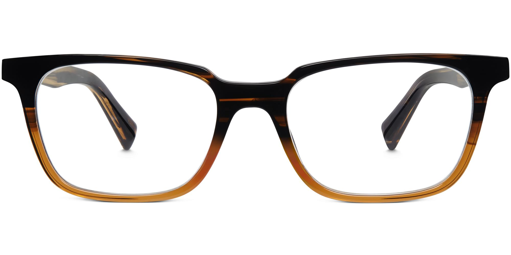 Front View Image of Barnett Eyeglasses Collection, by Warby Parker Brand, in Toffee Fade Color