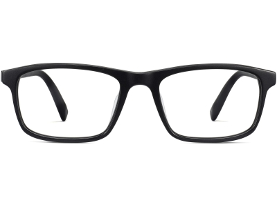 Front View Image of Becton Eyeglasses Collection, by Warby Parker Brand, in Jet Black Matte Color
