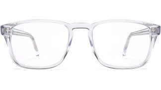 Front View Image of Bensen Eyeglasses Collection, by Warby Parker Brand, in Crystal Color