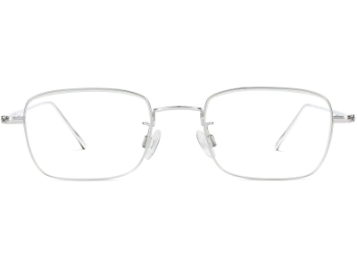 Side View Image of Brookner Eyeglasses Collection, by Warby Parker Brand, in Polished Silver Color