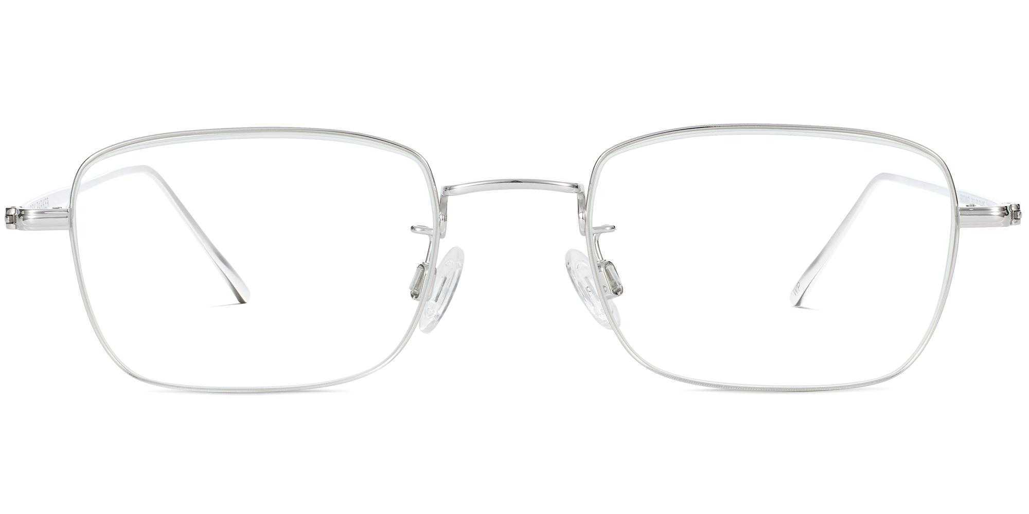 Brookner m eyeglasses in polished silver