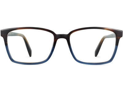 Front View Image of Bryon Eyeglasses Collection, by Warby Parker Brand, in Aegean Blue Fade Color