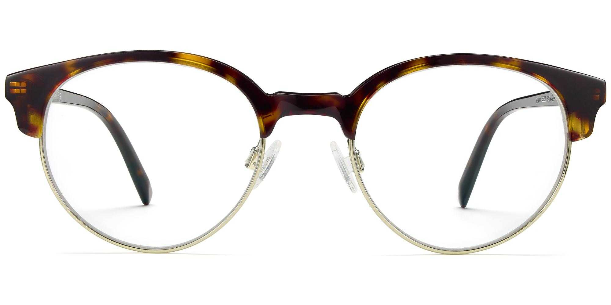 Front View Image of Carey Eyeglasses Collection, by Warby Parker Brand, in Cognac Tortoise with Riesling Color