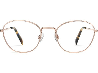 Front View Image of Colby Eyeglasses Collection, by Warby Parker Brand, in Rose Gold Color