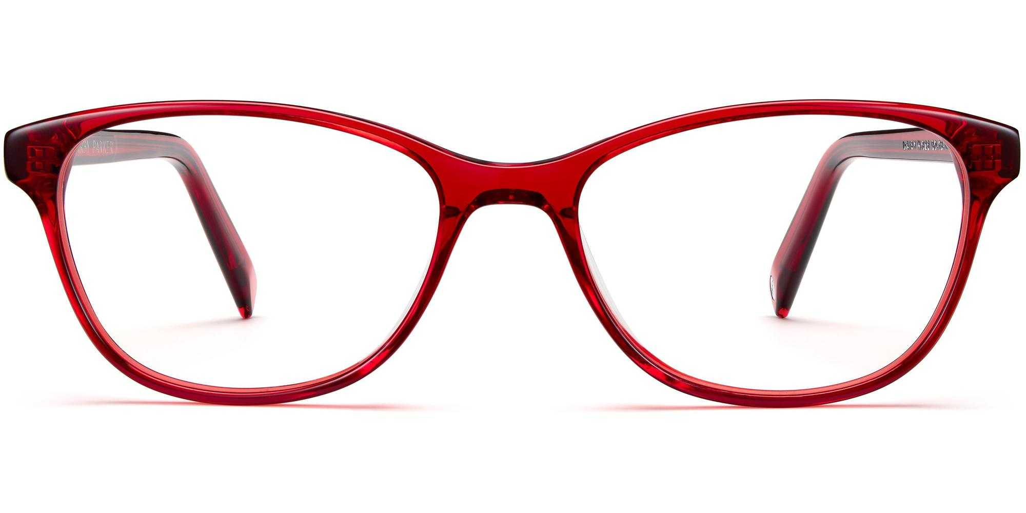 Front View Image of Daisy Eyeglasses Collection, by Warby Parker Brand, in Cardinal Crystal Color