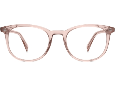 Front View Image of Durand Eyeglasses Collection, by Warby Parker Brand, in Rose Crystal Color