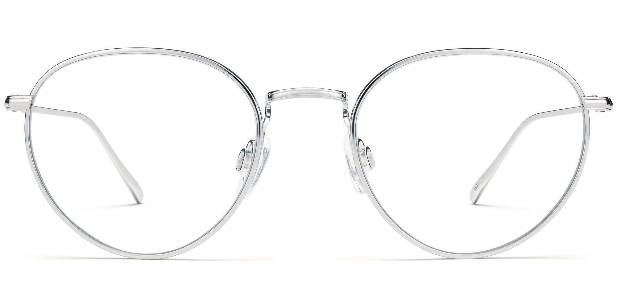 Front View Image of Ezra Eyeglasses Collection, by Warby Parker Brand, in Burnished Silver Color