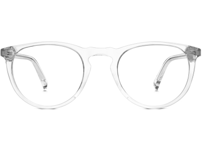 Front View Image of Haskell Eyeglasses Collection, by Warby Parker Brand, in Crystal Color
