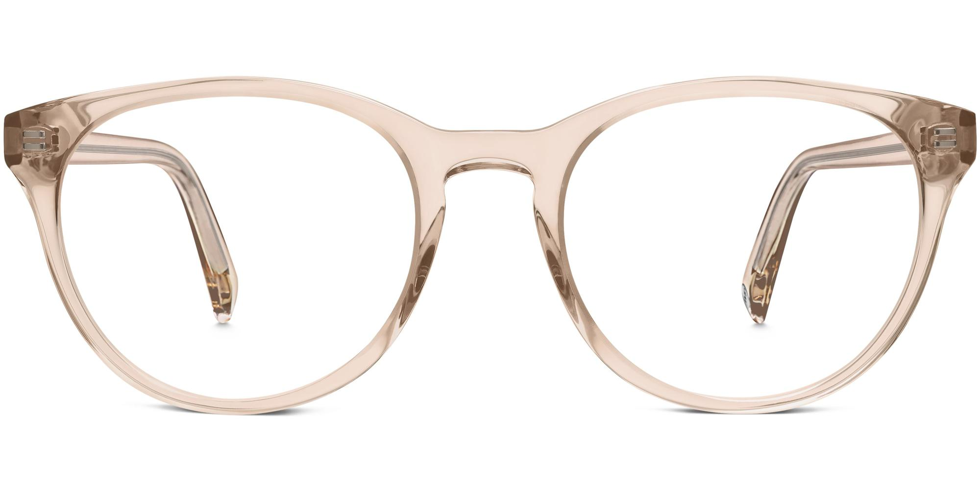 Front View Image of Jane Eyeglasses Collection, by Warby Parker Brand, in Elderflower Crystal Color