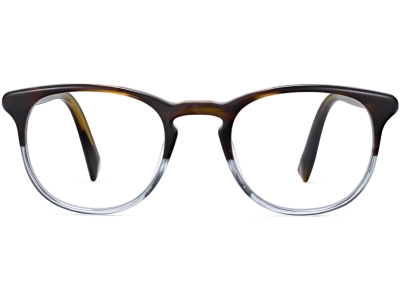 Front View Image of Baker Eyeglasses Collection, by Warby Parker Brand, in Eastern Bluebird Fade Color