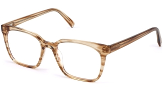 Angle View Image of Hughes Eyeglasses Collection, by Warby Parker Brand, in Chestnut Crystal Color