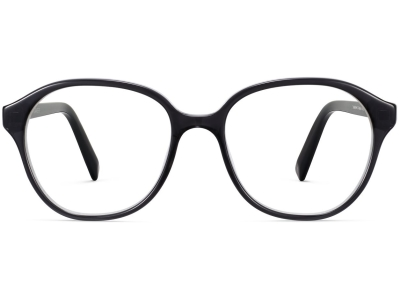 Front View Image of Carrington Eyeglasses Collection, by Warby Parker Brand, in Layered Jet Black Crystal Color