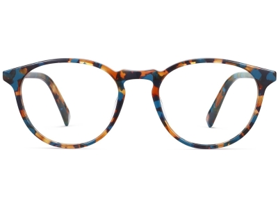 Front View Image of Butler Eyeglasses Collection, by Warby Parker Brand, in Teal Tortoise Color