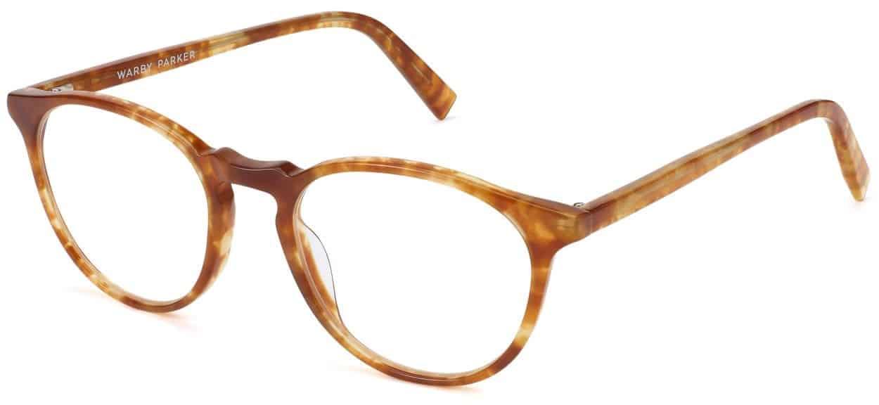 Butler Eyeglasses Review - Warby Parker - Butterscotch Tortoise - 52-19-145 - Women