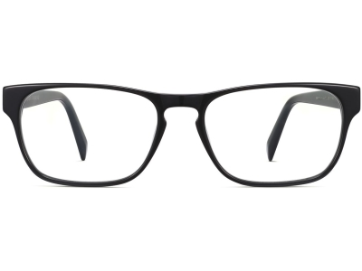 Front View Image of Brennan Eyeglasses Collection, by Warby Parker Brand, in Jet Black Color