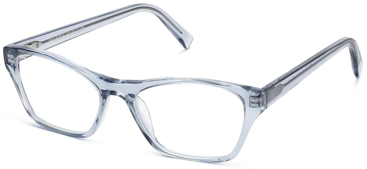 Angle View Image of Ashe Eyeglasses Collection, by Warby Parker Brand, in Pacific Crystal Color