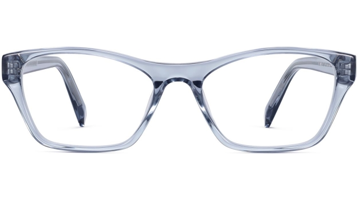 Front View Image of Ashe Eyeglasses Collection, by Warby Parker Brand, in Pacific Crystal Color
