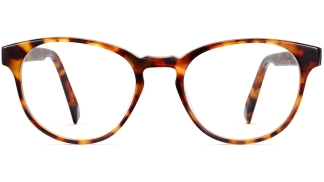 Front View Image of Whalen Eyeglasses Collection, by Warby Parker Brand, in Striped Acorn Tortoise Color