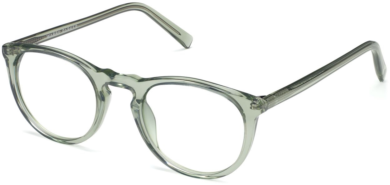 Angle View Image of Haskell Eyeglasses Collection, by Warby Parker Brand, in Aloe Crystal Color