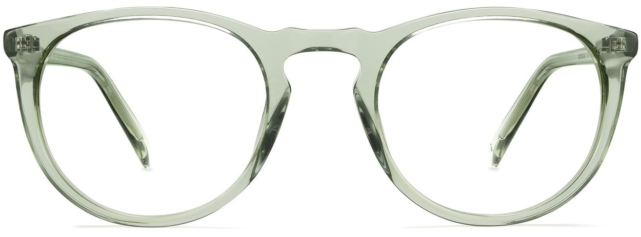 Front View Image of Haskell Eyeglasses Collection, by Warby Parker Brand, in Aloe Crystal Color