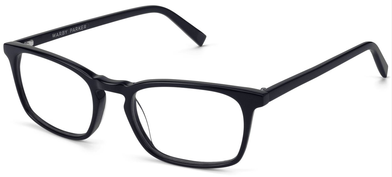 Angle View Image of Chase Eyeglasses Collection, by Warby Parker Brand, in Jet Black Matte Color