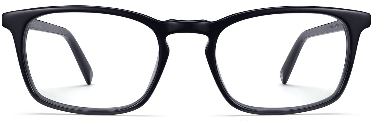 Front View Image of Chase Eyeglasses Collection, by Warby Parker Brand, in Jet Black Matte Color