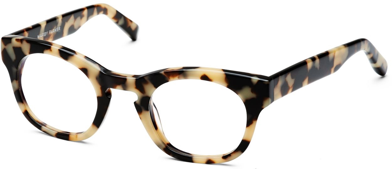 Angle View Image of Kimball Eyeglasses Collection, by Warby Parker Brand, in Marzipan Tortoise Color