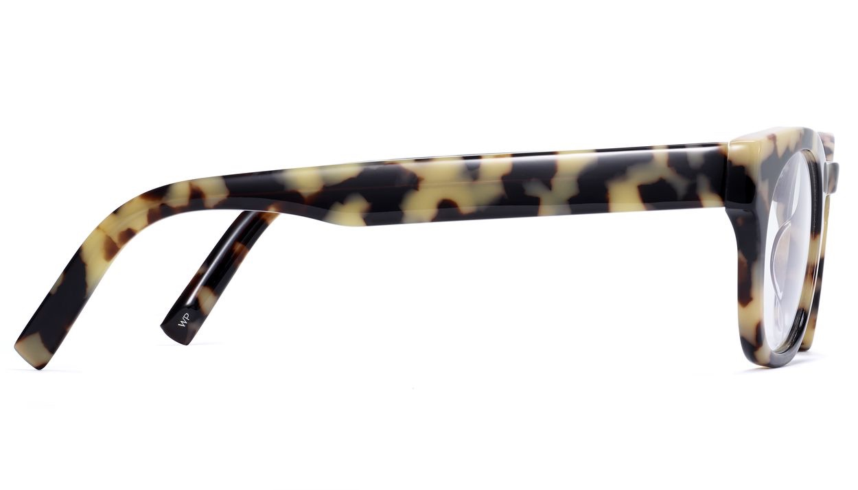 Side View Image of Kimball Eyeglasses Collection, by Warby Parker Brand, in Marzipan Tortoise Color