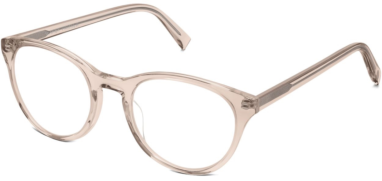 Angle View Image of Jane Eyeglasses Collection, by Warby Parker Brand, in Elderflower Crystal Color