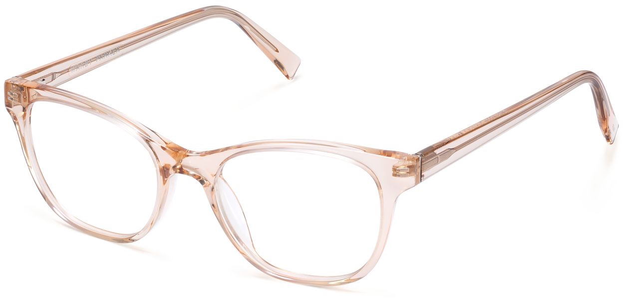 Angle View Image of Amelia Eyeglasses Collection, by Warby Parker Brand, in Elderflower Crystal Color