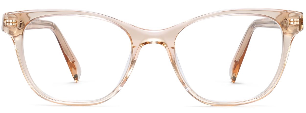 Front View Image of Amelia Eyeglasses Collection, by Warby Parker Brand, in Elderflower Crystal Color