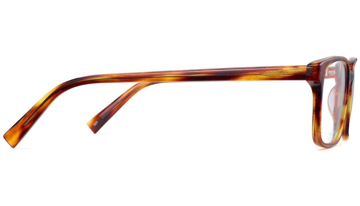 Side View Image of Brady Eyeglasses Collection, by Warby Parker Brand, in Sugar Maple Color