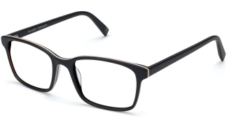 Angle View Image of Brady Eyeglasses Collection, by Warby Parker Brand, in Black Matte Eclipse Color