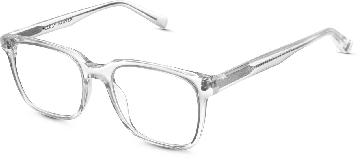 Angle View Image of Chamberlain Eyeglasses Collection, by Warby Parker Brand, in Crystal Color