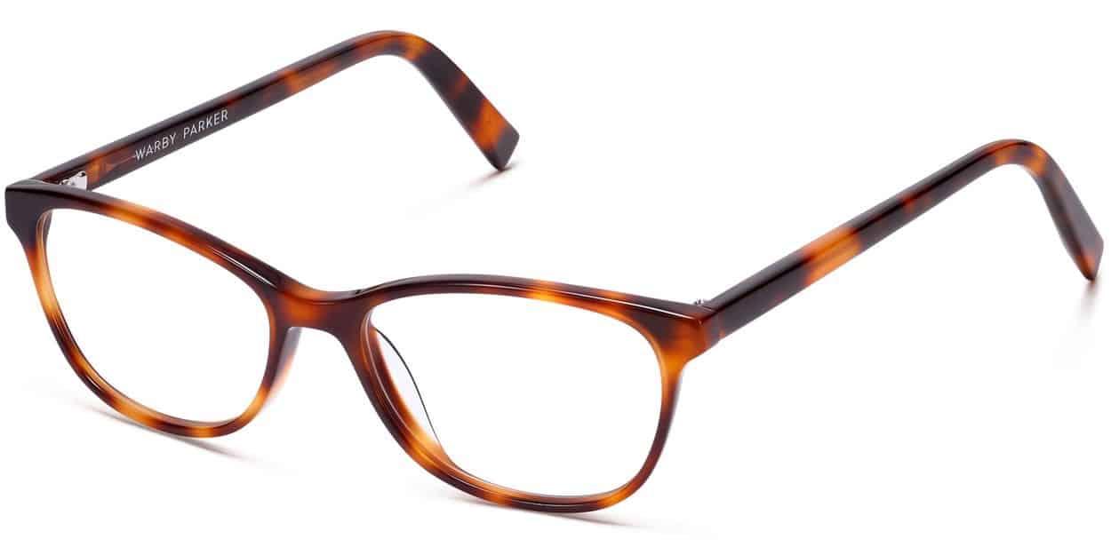 Daisy Medium Eyeglasses Review - Warby Parker - Oak Barrel - 52-16-140 - Women