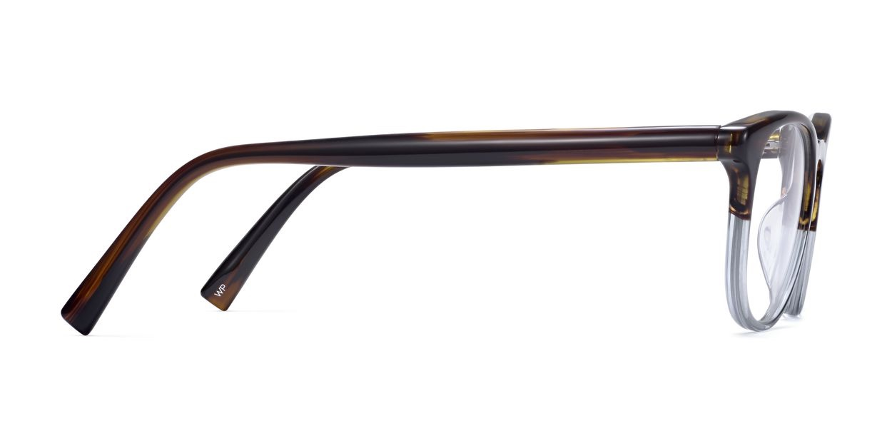 Side View Image of Baker Eyeglasses Collection, by Warby Parker Brand, in Eastern Bluebird Fade Color