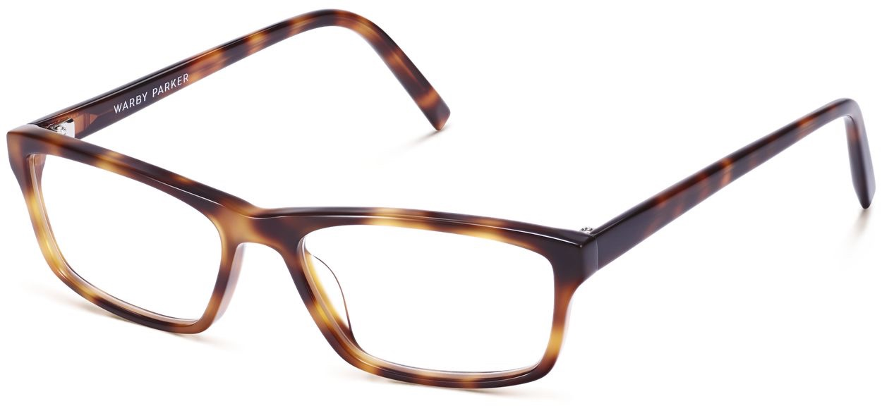 Angle View Image of Godwin Eyeglasses Collection, by Warby Parker Brand, in Oak Barrel Color