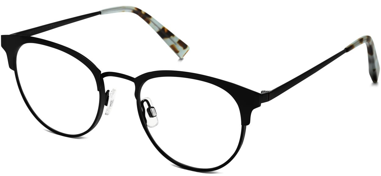 Angle View Image of Blair Eyeglasses Collection, by Warby Parker Brand, in Black Ink Color