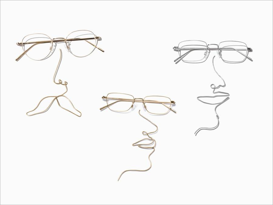 Frames View Image of Brookner Eyeglasses Collection, by Warby Parker Brand, in Polished Silver Color