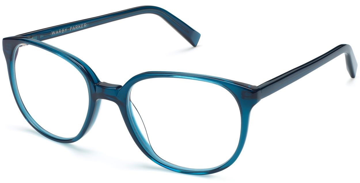 Angle View Image of Eugene Eyeglasses Collection, by Warby Parker Brand, in Adriatic Crystal Color