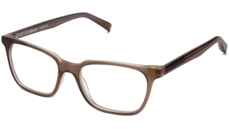 Angle View Image of Barnett Eyeglasses Collection, by Warby Parker Brand, in Quail Egg Grey Color