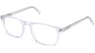 Angle View Image of Bensen Eyeglasses Collection, by Warby Parker Brand, in Crystal Color
