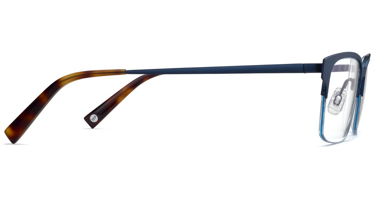 Side View Image of James Eyeglasses Collection, by Warby Parker Brand, in Brushed Navy Color