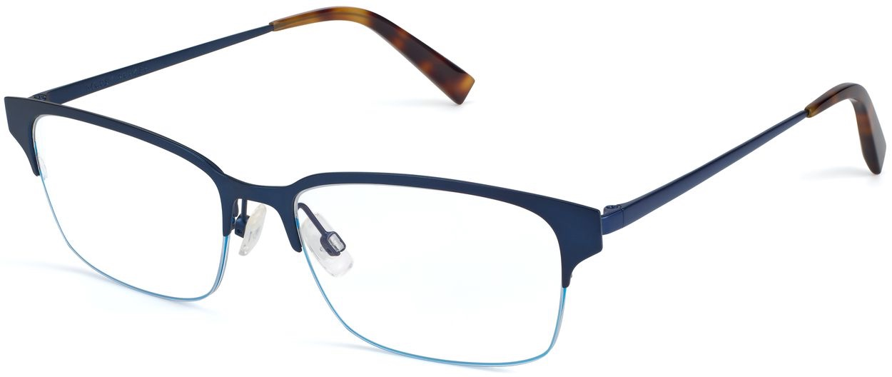 Angle View Image of James Eyeglasses Collection, by Warby Parker Brand, in Brushed Navy Color