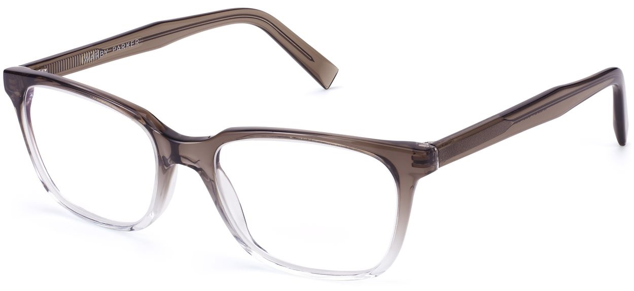 Angle View Image of Wilder Eyeglasses Collection, by Warby Parker Brand, in Driftwood Fade Color