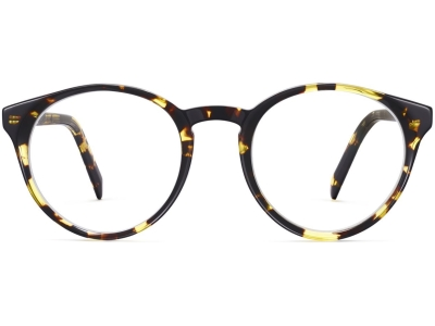 Side View Image of Briggs Eyeglasses Collection, by Warby Parker Brand, in Mesquite Tortoise Color