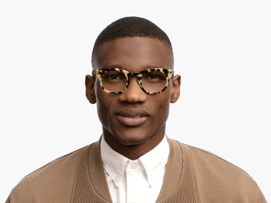 Men Model Image of Kimball Eyeglasses Collection, by Warby Parker Brand, in Marzipan Tortoise Color